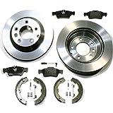 Bremsscheiben belüftet 300 mm/Bremsen + Bremsbeläge + Sensor + Handbremsbacken + Zubehör für hinten/die Hinterachse