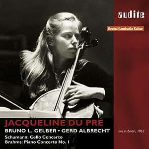 Schumann : Concerto pour violoncelle. Brahms : Concerto pour piano. Du Pré, Gelber, Albrecht.
