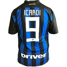 f5976b8bf32b7 Camiseta Jersey Futbol Inter Mauro Icardi 9 Replica Oficial Autorizado  2018-2019 Niños (2