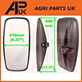 APUK NEW Universal Mirror Head + Glass Tractor Lorry Digger Truck Plant JCB Bus Truck