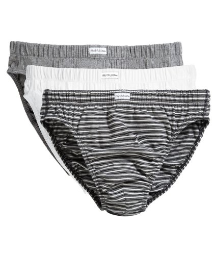 Fruit of the Loom Underwear Classic Slip 3er Pack L,Black Stripe - Loom 3-pack-slips