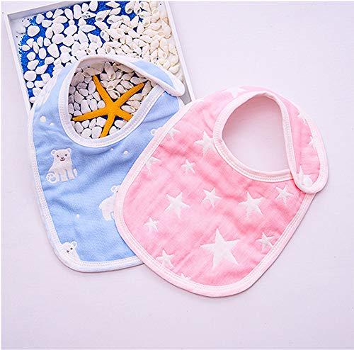 LNDD-Niedliches Cartoonmuster-Lätzchen des Babyspeicheltuches 360 Grad Justierbares Unisexbaumwollwasserdichtes Kopftuch Einfach Zu Tragen,Rosa (Baby Pille Kostüm)