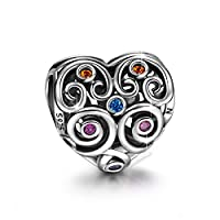 NinaQueen Eternal Love 925 Sterling Silver Charms Bead for women fit pandora charms bracelet Christmas Gifts Birthday Valentines Mothers Day Anniversary Wedding Gift For Mother Wife
