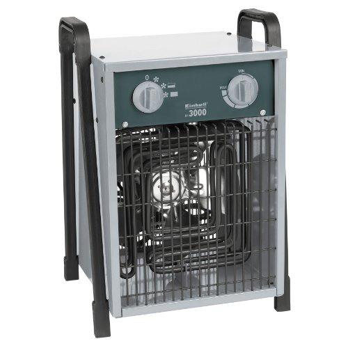 elektrisches heizgeblaese Einhell Elektro Heizer EH 3000 (3000 Watt, 2 Heizstufen und Ventilatorbetrieb, Thermostat, Spritzwasserschutz, Tragegriff, robustes Gehäuse)