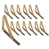 WinArrow Tablecloth Clips Stainless Steel Table Cover Clamps Table Cloth Holders 12 Packs (Gold)