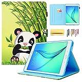 pour Samsung Galaxy Tab A 24,6cm Cas, SM-T550Portefeuille Cases, Dteck (TM) Ultra Fin coloré Peinture Cuir synthétique Folio Support à Rabat Housse Coque de Protection #B Panda