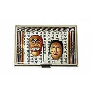 Tradition Corée Nacre Métal Business Masque Inox porte-nom-étui de rangement pour carte d identité portefeuille