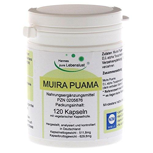 Muira Puama + E, 120 St. Kapseln