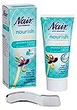 Nair - Shower Power Cream - For Dry & Sensitive Skin - with Argan Oil, Jojoba Oil & Cocoa Butter - 200ml