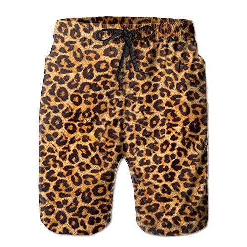 ZHIZIQIU Leopard Print.jpg Men's Swim Trunks Quick Dry Beach Shorts Beach Surfing Running Swimming Swim Shorts - M Girl Carters Leoparden-print