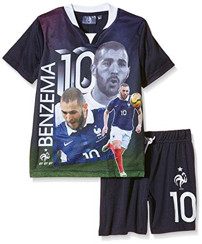FFF EP1002 Benzema conjunto de piezas de 2-Camiseta de manga corta para niño, color azul (talla 6 años 6Y):