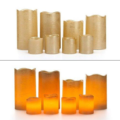 8-candele-a-led-in-vera-cera-con-funzione-timer-candele-4-a-mezzo-sigaro-e-4-candele-votive-vari-col