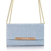 Bling Case for iPhone X, TechCode Women Cute Style Candy Color PU Leather Stand Cover Flip Lady Multi Envelope Wristlet HandBag Clutch Wallet Case for 5.8 inch iPhone X /iPhone 10 -Blue