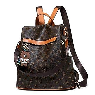 51Fqp7%2BZYDL. SS324  - Mochila de las mujeres antirrobo impermeable mochila casual monedero de cuero de la PU bolsa de hombro de la escuela ligera