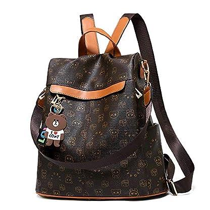 51Fqp7%2BZYDL. SS416  - Mochila de las mujeres antirrobo impermeable mochila casual monedero de cuero de la PU bolsa de hombro de la escuela ligera