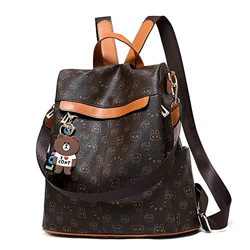 Mochila de las mujeres antirrobo impermeable mochila casual monedero de cuero de la PU bolsa de...