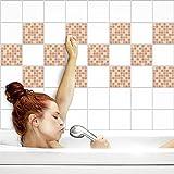 Fliesenaufkleber für Küche und Bad | Fliesenfolie für 15x20cm Fliesen | Mosaik Rouge matt | 42 Stück | Klebefliesen günstig in 1A Qualität von PrintYourHome