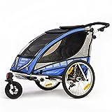 Qeridoo Q6000A-Blau Sportrex 2 Kinder-Fahrradanhänger (2 Sitzer) - blau thumbnail
