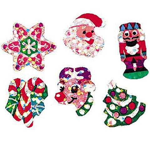 German Trendseller® - 36 x autocollantes noel┃ glitter sticker┃ Noel avec scintelliment┃ petits cadeaux