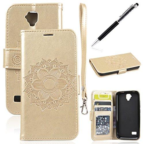 Pelle Cover per Huawei Y5/Y560, GrandEver Morbid PU Leather Custodia