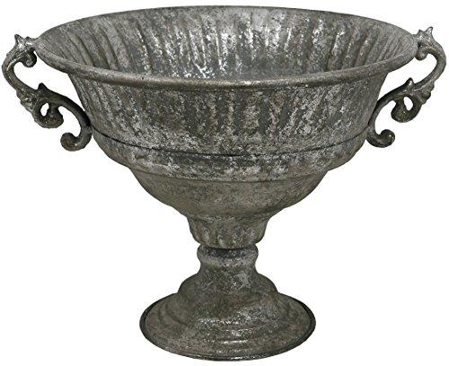 Metall Pokal, Antik Design, 31 cm / Deko Schale auf Fuß