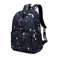"Acmebon Girls Fashion Printed Pattern Backpack Casual Student Backpack Fit 14"" Laptop Stars"