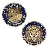 JIACUO Saint Michael Der Erzengel Gedenkherausforderung Münzen Sammlung Token Art -