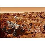 Diseño de curiosidad rover en Marte, de nieve