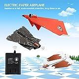 Springdoit Papierbremsen-Energie-elektrisches DIY Papierflugzeug kreatives Spielzeug-Flugzeug-Geschenk-Spielzeug im Freien - Kasten 3 Blätter