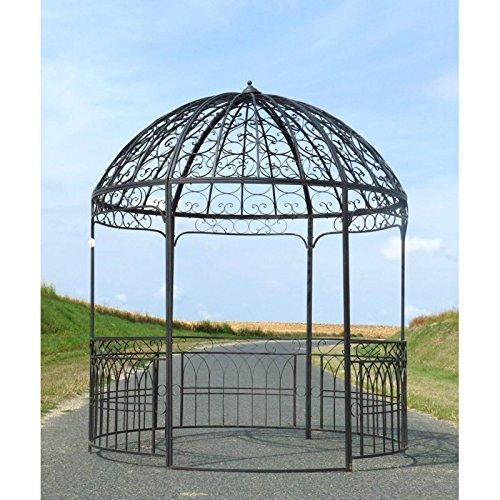 Große Pavillon Garten-Pavillon Pergola Fences, Eisen, rund braun 250x 250x 290cm