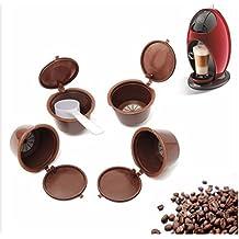 Recargable reutilizable cápsulas de cápsulas de café para Dolce Gusto coffiee máquinas–4Cápsulas de café + cuchara