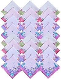 S4S 100% Cotton Women's Floral Handkerchiefs