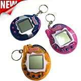 Electronic Virtual Pets with Keyring,Wyurhjh® 90S Cyber Tamagotchi 49 Pets In One Electronic Game Toy Xmas Gift for Kid Child Girls Boys (Random Color)