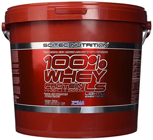 tein 100% Whey Protein Professional, Vanille mit wenig Zucker, 5000g ()