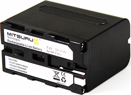 Mitsuru 7.2V 52Wh Original Akku für Camcorder Sony HDR-AX2000, CCD-TR, DCR-TR, DSC, DSR, GV, HDR-F, MVC-FD Series. Ersetzt: Sony NP-F930/Sony NP-F950/Sony NP-F960/Sony NP-F970.