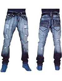 172ce3e2ae6d1c Peviani Bar Mens Rips Jeans, Hip Hop Straight Ripped Star Designer G Denim