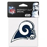 NFL St. Louis Rams 63090011 Perfect Cut Color Decal, 4 x 4 , Black