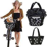 Banane – Cesta para bicicleta multiusos extraíble para mascotas, compras, pensionistas, camping y exteriores, cierre rápido