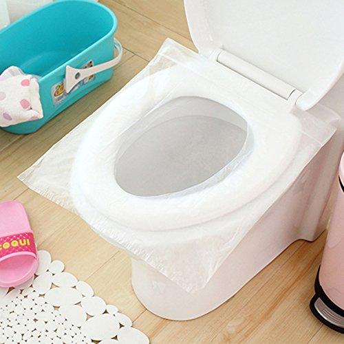 Cikuso 1 sacchetto (6 pezzi) di sicurezza monouso per viaggi in plastica pe coprivaso copri materasso maternita' impermeabile antibatterico pad vasino