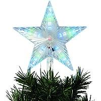 Stella Albero Di Natale Luminosa.Amazon It Stella Di Natale Luci Per Interni Luci Natalizie