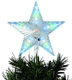 festive Productions animate digitale LED puntale per albero di Natale a forma di stella: a batteria: 24cm: P012184