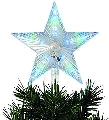 Idea Regalo - festive Productions animate digitale LED puntale per albero di Natale a forma di stella: a batteria: 24cm: P012184