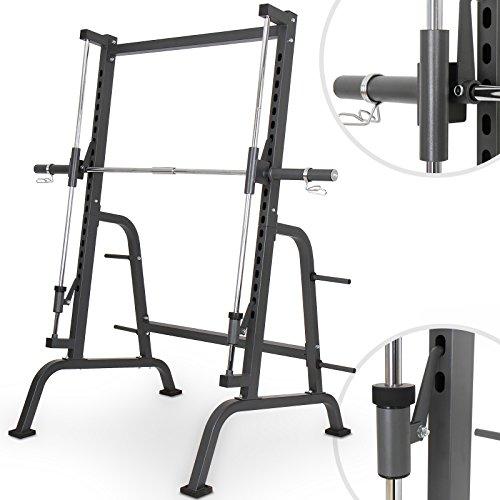 #Physionics Fitnessgerät für Kniebeugen mit Hantelablage Multipresse, maximale Belastung ca. 250 kg#