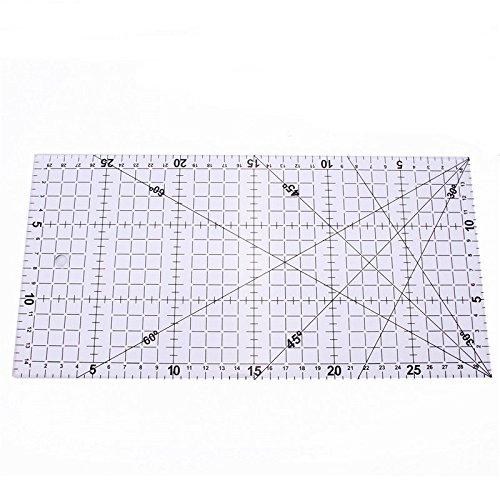 KUNSE 30x15cm Quilten Lineal Acryl klar Quilt Patchwork Heimwerkerwerkzeuge Nähen
