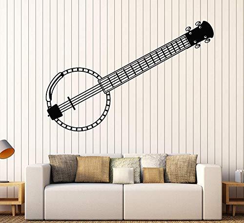 SUPERSTICKI Banjo ca 60cm Wandtattoo Aufkleber Profi Qualität für glatten Flächen Sticker