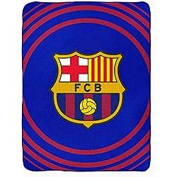 FCB Manta de Forro Polar Oficial del FC Barcelona (La Liga) (100% poliéster y 120 cm x 150 cm)