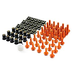 LIWIN Motorradzubehör Motorrad-Zubehör Verkleidungs   Schrauben Bolt Windschutzscheibe Schraube for SUZUKI GSXR 600/750 GSXR 600/750 1000 K1 K2 K3 K4 K5 K6 K7 K8 K9 (Color : Orange)