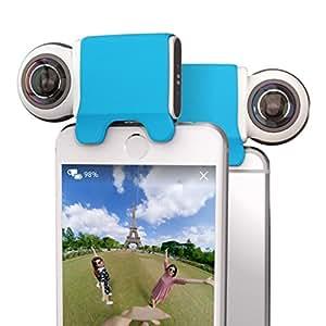 GIROPTIC IO - Camera HD 360° pour iPhone et iPad | Léger | Capturer et Partager des Photos et Vidéos en 360° Depuis Votre Smartphone ou Tablette | Compatible avec iPhone & iPad - Blanc