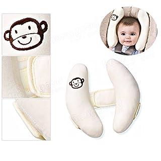 ADAALEN Baby Kind Kopf Hals Support Baby Car Seat Kissen Trolleys Verstellbare Kinderhalspflege