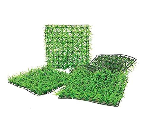 MEDIAWAVE Store Mattonella in erba sintetica realistica 036392 per giardino 25x25 cm